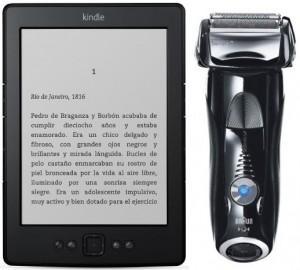 Kindle y Afeitadora Braun