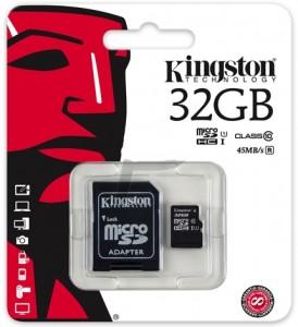 Kingston SDHC 45MBs