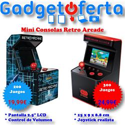 Mini Retro Consolas Arcade