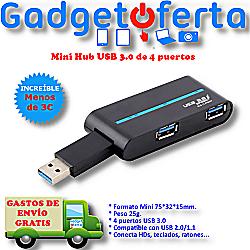 Mini Hub USB 3.0 de 4 Puertos