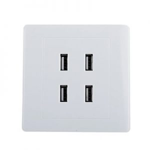 Enchufe de pared con puertos USB de carga