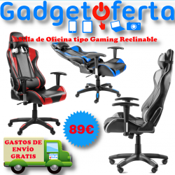 Silla Oficina tipo Gaming Reclinable