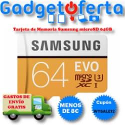 Oferta Tarjeta de memoria Samsung EVO microSDXC 64GB